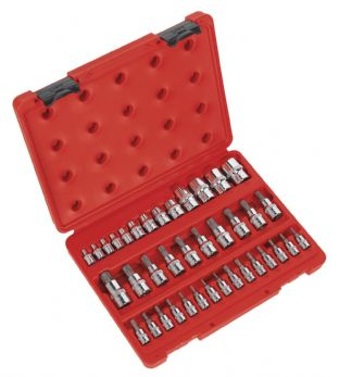 "Sealey AK6197 TRX-Star Socket & Security Socket Bit Set 38pc 1/4"", 3/8"" & 1/2""Sq Drive"